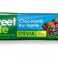 CIOCOLATA LAPTE&INDULCITOR STEVIE 25GR SWEET&SAFE SLY NUTRITIA