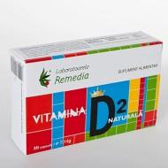 VITAMINA D2 NATURALA 30CPS REMEDIA