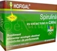 SPIRULINA CU EXTRACT TOTAL DE CATINA 40cpr HOFIGAL