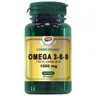 ULEI SEMINTE IN 1000mg (FLAX SEED OIL) 30cps COSMOPHARM