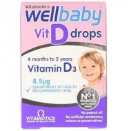WELLBABY VITAMINA D PICATURI 30ML VITABIOTICS LTD