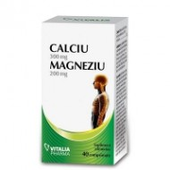 CALCIU MAGNEZIU 40CPR VITALIA PHARMA