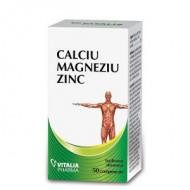 CALCIU MAGNEZIU ZINC 50CPR VITALIA PHARMA