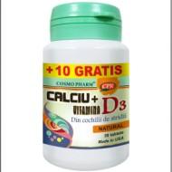 CALCIU+VITAMINA D3 30CPR COSMOPHARM