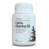 CALCIU + VITAMINA D3 40CP ALEVIA