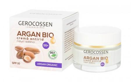 Argan bio crema antirid riduri adanci 55+ spf 10, 50 ml, Gerocossen