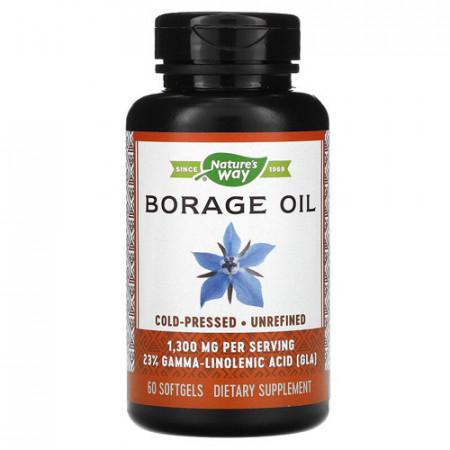 Borage Oil 1300mg, 60cps, Nature's Way