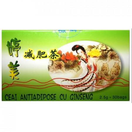 Ceai antiadipos cu Ginseng, 30dz, 2.5g, L&L Plant