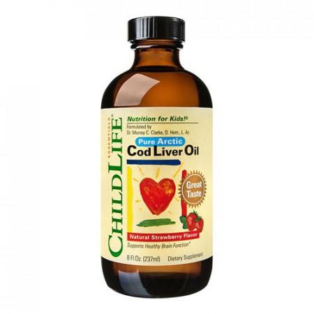 Cod Liver Oil, 237ml(gust de capsune), ChildLife