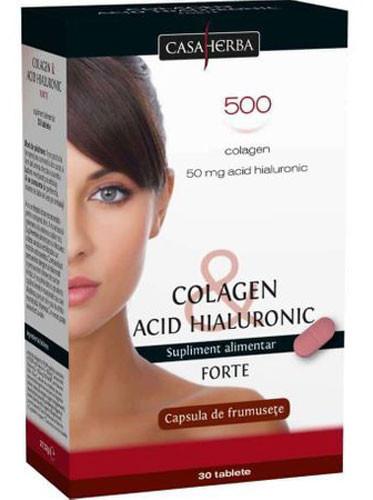 Colagen & Acid hialuronic Forte, 30cps, Interherb