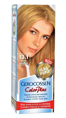 Color plus vopsea pentru par 13.1 blond sampanie, 50 ml vopsea de par + 50 ml oxidant , Gerocossen