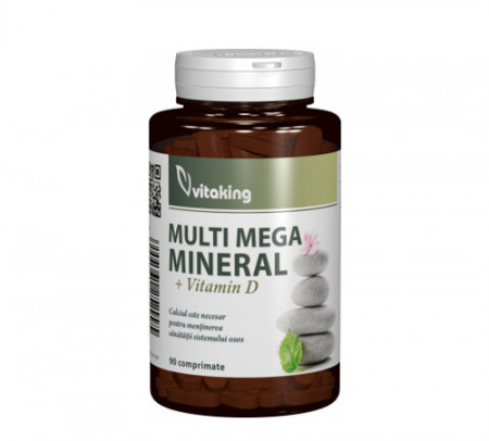 Complex multimineral cu vitamina D, 90cps, Vitaking