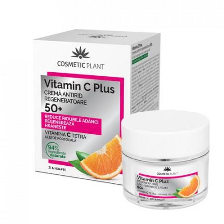 Cremă antirid regeneratoare 50+ Vitamin C Plus, 50ml, Cosmetic Plant