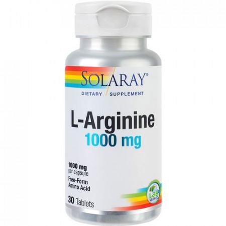 L-Arginine 1000mg, 30cps, Solaray
