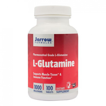 L-Glutamine 1000mg, 100tablete Easy-Solv, Jarrow Formulas