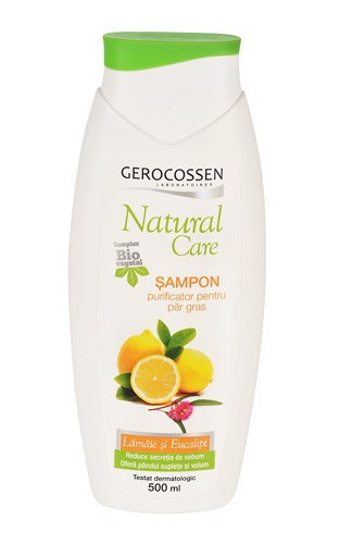 Natural care sampon purificator pentru par gras, 500 ml, Gerocossen