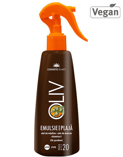 Oliv emulsie plaja SPF20, 200ml, Cosmetic Plant Plaja
