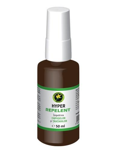 Spray Hyper Repelent impotriva tantarilor si capuselor, 50ml, Hypericum