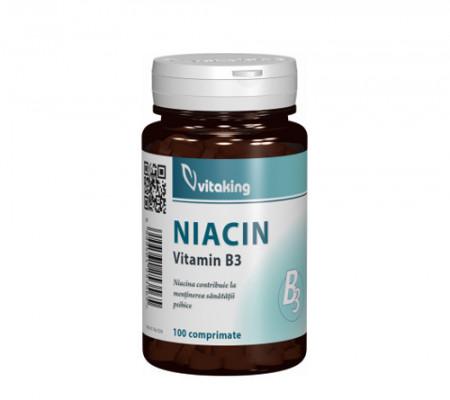 Vitamina B3(niacina) 100mg, 100cps, Vitaking