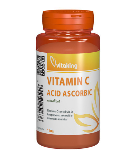 Vitamin C (acid ascorbic) cristalizata, 150gr, Vitaking