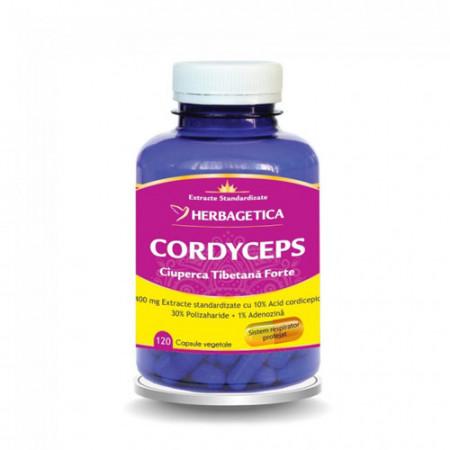 Cordyceps ciuperca tibetana forte, 120cps, Herbagetica