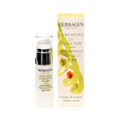 Crema de noapte antirid cu celule stem, 30g, Herbagen