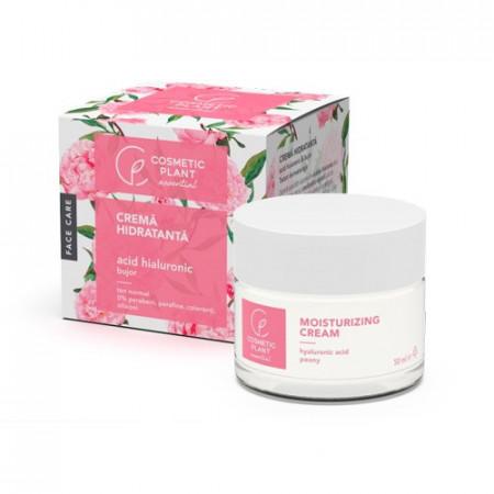 Crema hidratanta acid hialuronic & extract de bujor, 50ml, Cosmetic Plant