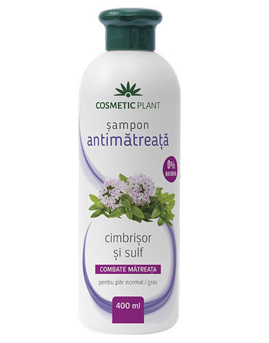 Sampon antimatreata cu cimbrisor&sulf, 400 ml, Cosmetic Plant