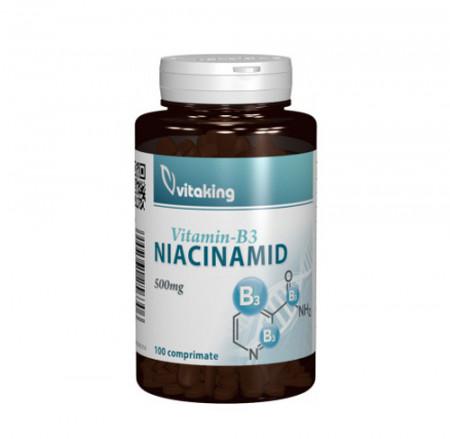 Vitamina B3(niacinamida) 500mg, 100cps, Vitaking