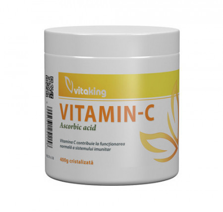 Vitamina C (acid ascorbic) cristalizata, 400gr, Vitaking