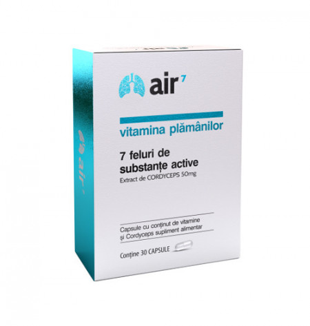 Air7, vitamina plamanilor, 30cps, Green Splid