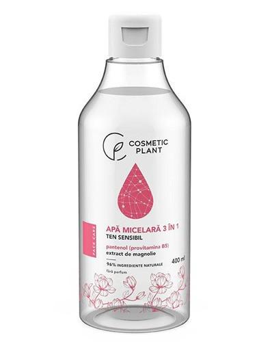 Apa micelara 3 in 1 cu pantenol & extract de magnolie, 400ml, Cosmetic Plant