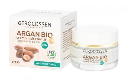 Argan bio crema hidratanta 25+ spf 10, 50 ml, Gerocossen