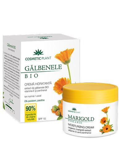 Crema hidratanta galbenele, vitamina E & pantenol SPF15, 50ml, Cosmetic Plant