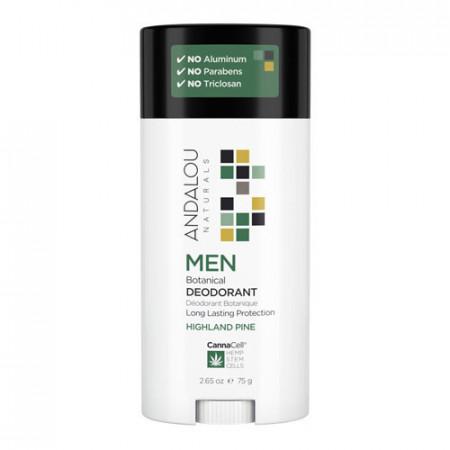 MEN Botanical Deodorant-HIGHLAND PINE, 75g, Andalou