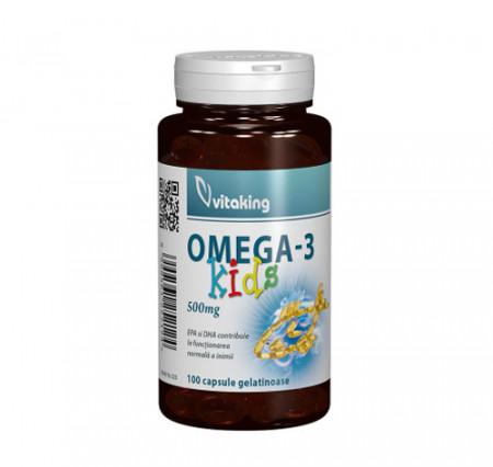 Omega 3 natural pentru copii, 100cps gelatinoase, Vitaking