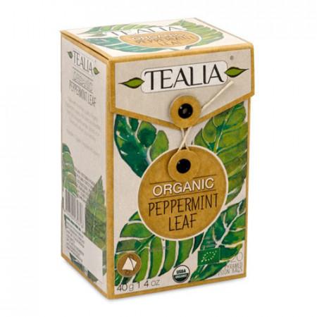 Organic Peppermint, 20 plicuri piramida x 2g, Tealia