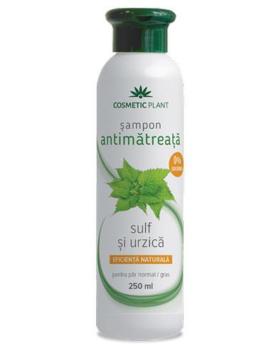 Sampon antimatreata cu sulf&urzica, 250ml, Cosmetic Plant
