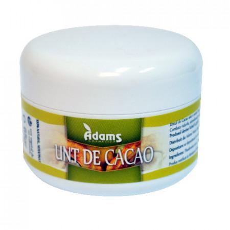 Unt de Cacao bio (din cultura ecologica), 65gr, Adams Vision