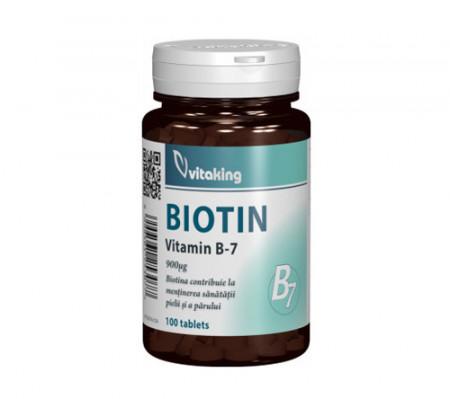 Vitamina B7(biotina) 900mcg, 100cps, Vitaking