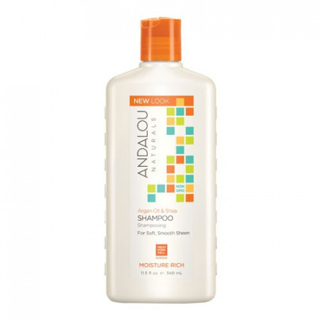 Argan Oil & Shea Moisture Rich Shampoo, 340ml, Andalou