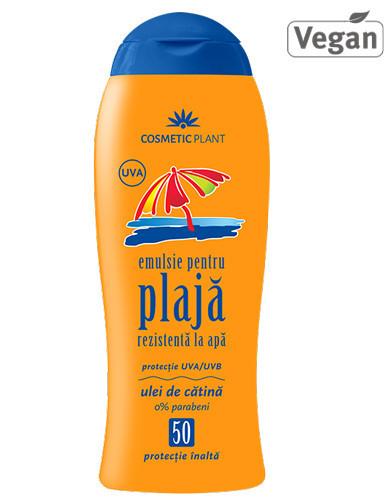 Emulsie plajă rezistentă la apă SPF50, 200ml, Cosmetic Plant Plaja