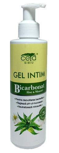 Gel Intim cu Bicarbonat, Aloe si Musetel, 200ml (flacon), Ceta Sibiu