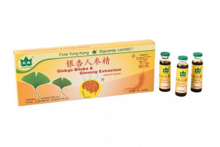 Ginkgo Biloba & Ginseng Extractum, 10fl*10ml, Yong Kang