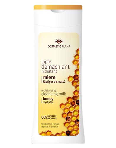 Lapte demachiant hidratant cu miere&lăptisor de matca, 200ml, Cosmetic Plant