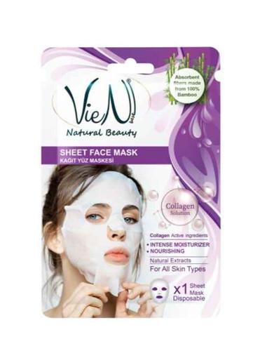 Masca faciala tip servetel cu colagen, 25g, Vien
