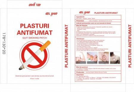 Plasturi antifumat 8cmX8cm, 8buc, Naturalia Diet