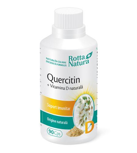 Quercitin + Vitamina D naturală, 90cps, Rotta Natura
