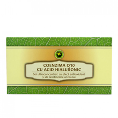 Set fiole Coenzima Q10 cu Acid Hyaluronic, 12buc, Hypericum