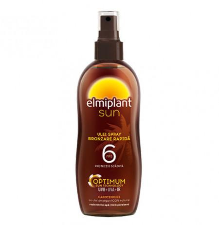 Sun ulei spray bronzare rapida, SPF6, 150ml, Elmiplant Plaja